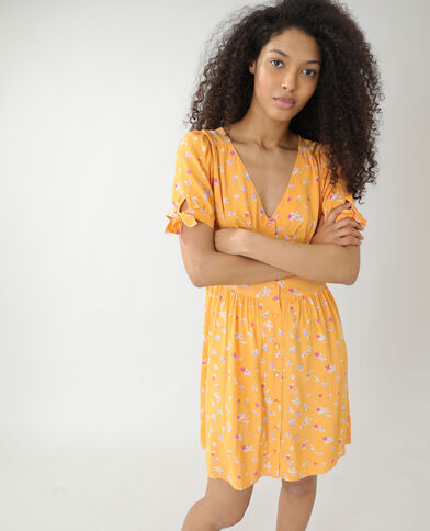 Robe fleurie orange - Pimkie