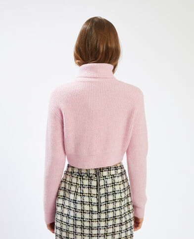 Korte trui met rolkraag roze - Pimkie