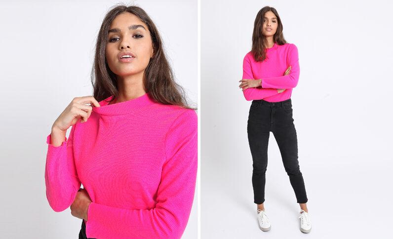 T-shirt fluo rose