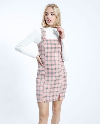 Geruite jurk met dunne schouderbandjes roze - Pimkie