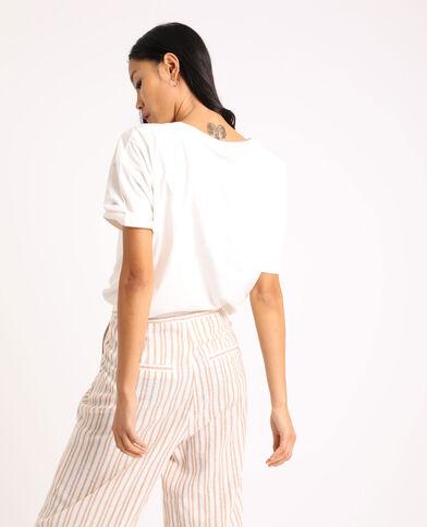 T-shirt met grafische print wit