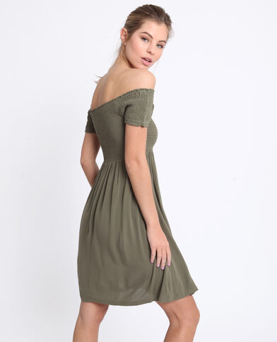 Robe courte vert