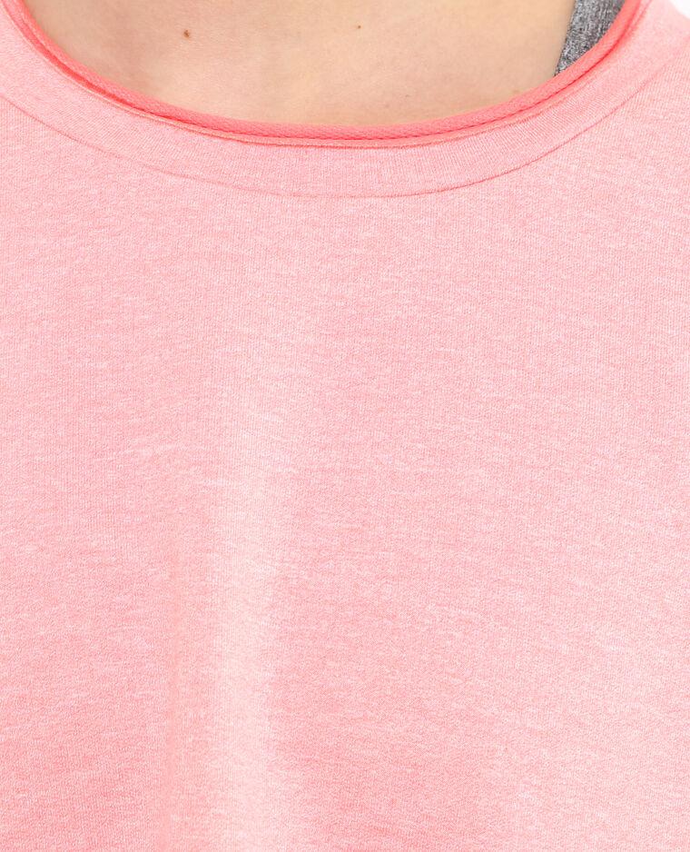 Cropped T-shirt poederroze