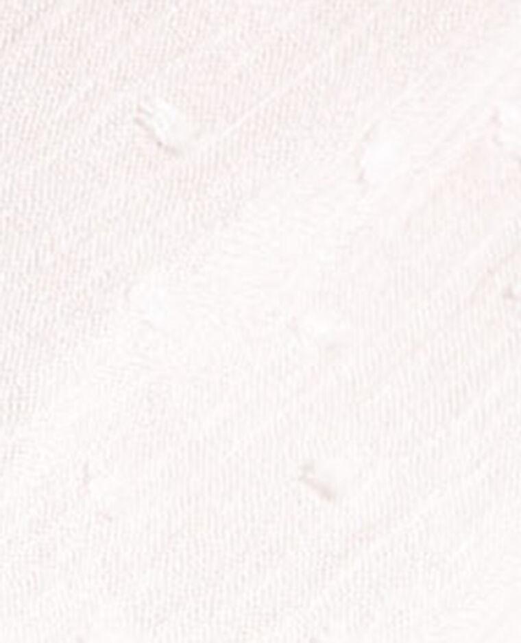 Chemisier court en dentelle blanc cassé