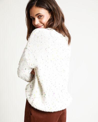 Veelkleurige trui wit