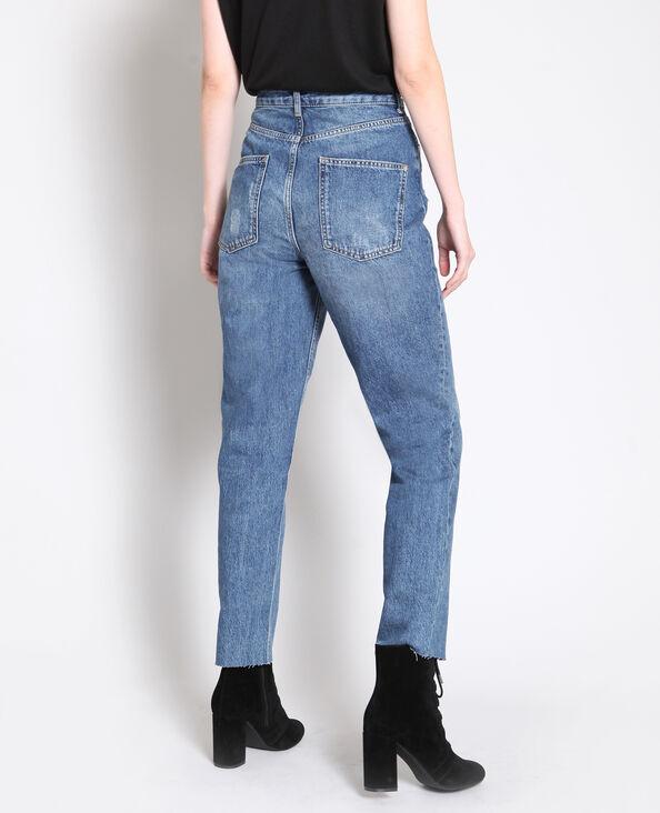 Rechte jeans met hoge taille blauw