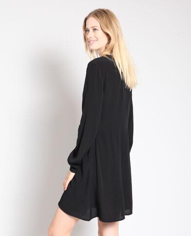 Robe Boheme Longue Fleurie Impression Noir Fendu Dos Nu 3d0b43b78fc
