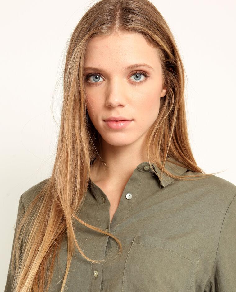 Hemd van 55% linnen groen