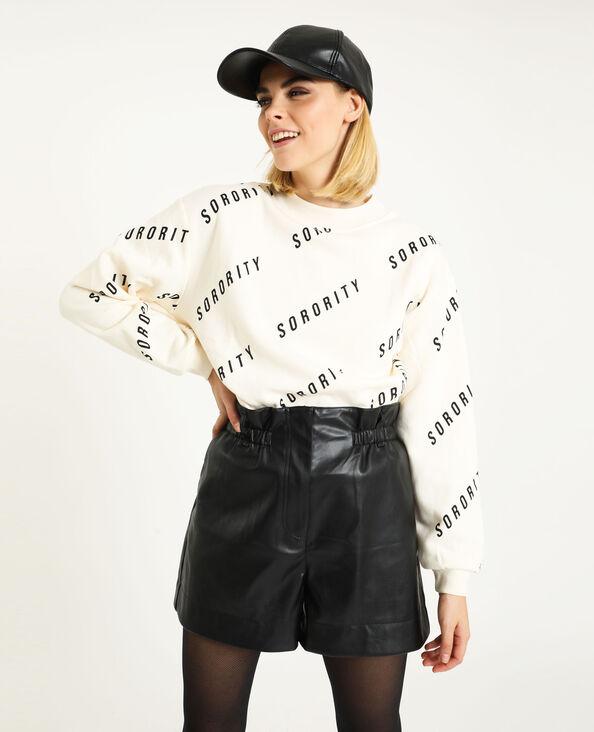 Sweater met print beige