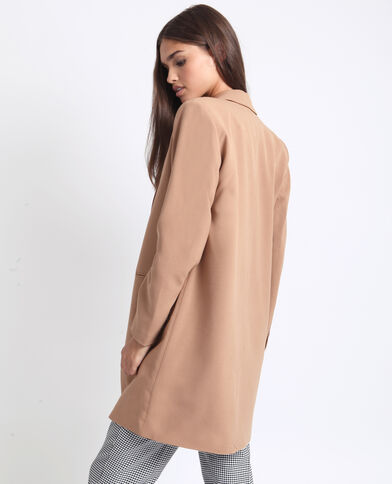 Manteau fluide marron