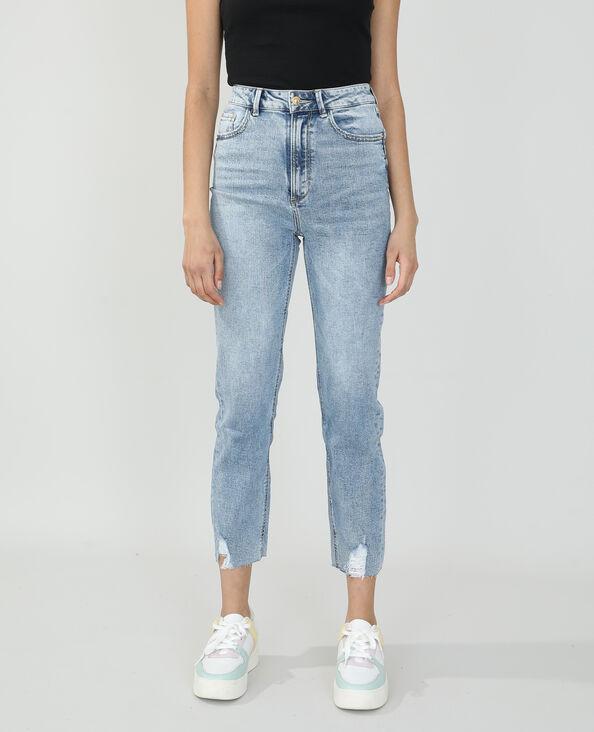 Jean straight high waist bleu denim - Pimkie