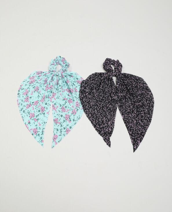 Set van 2 sjaalscrunchies zwart - Pimkie