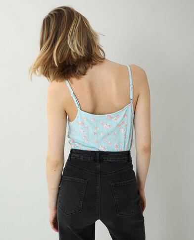 Top met dunne schouderbandjes en kant lichtblauw - Pimkie