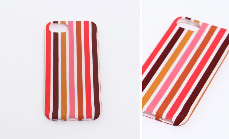 iPhone-hoesje met strepen oranje