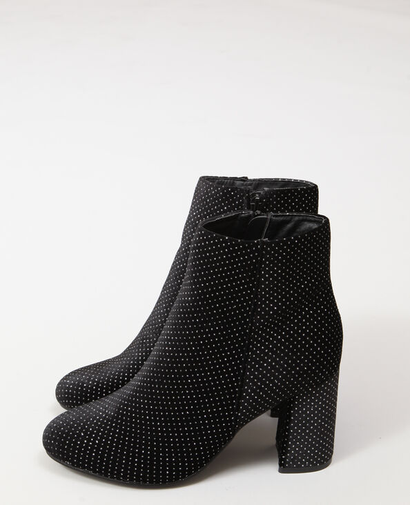 Bottines à strass noir