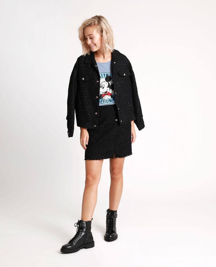 Veste en tweed noir