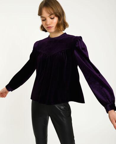 Top en velours ras violet