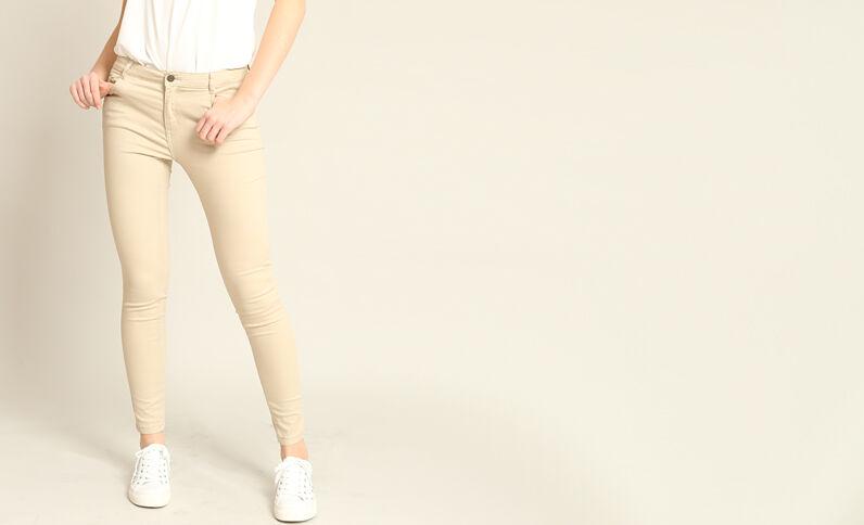 Skinny push up beige