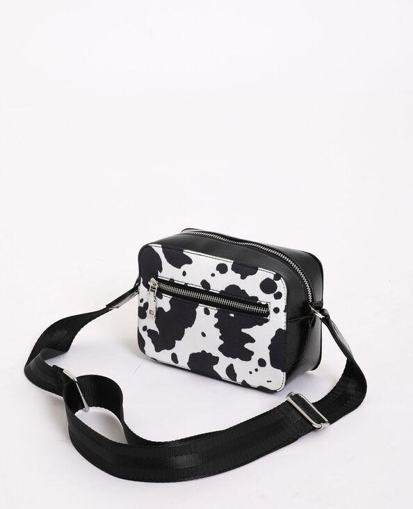 Tas met dierenprint wit