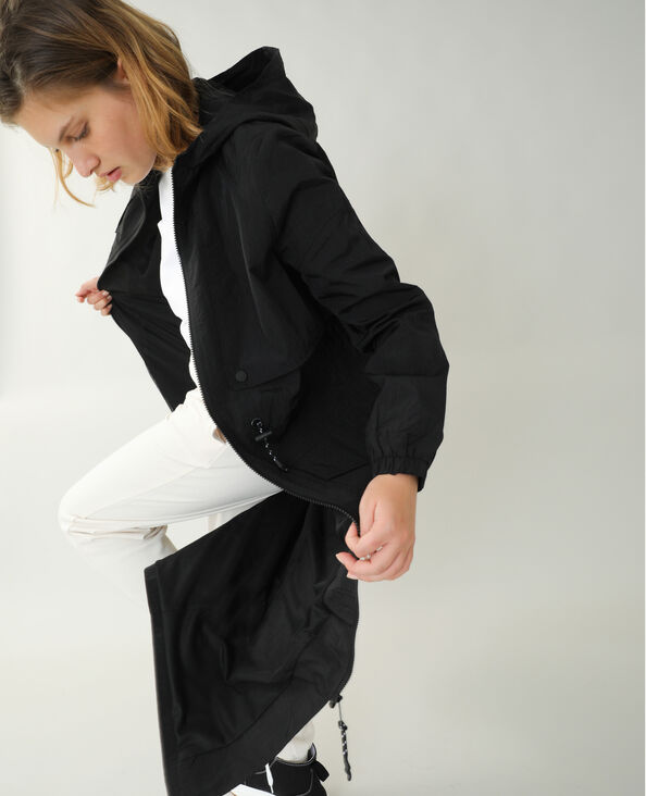 Lange windjas zwart - Pimkie