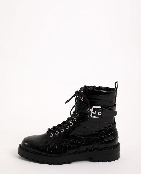 Stoere laarzen van imitatieleer zwart