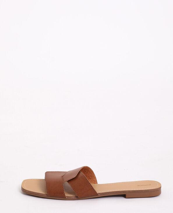 Platte sandalen kastanjebruin - Pimkie