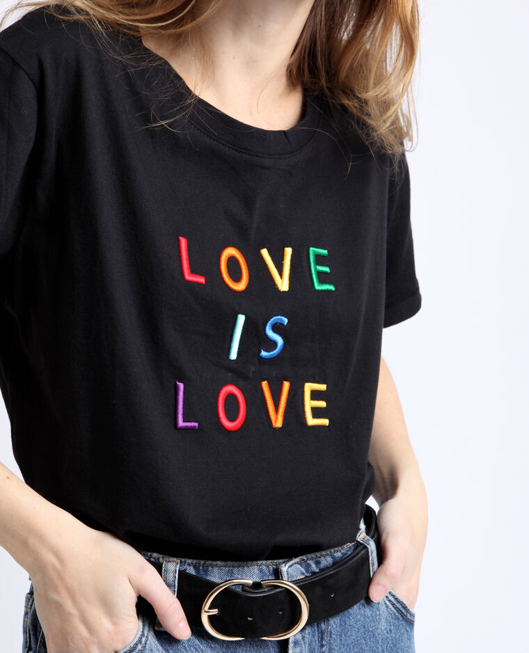 T-shirt LOVE noir