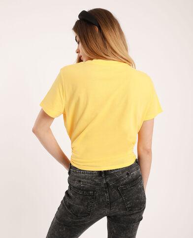 T-shirt à message jaune