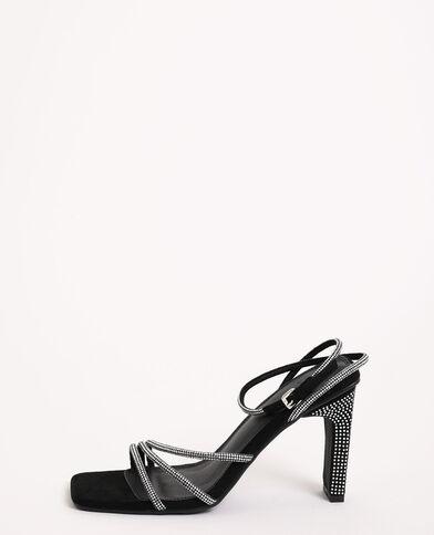 Sandalen met stras zwart