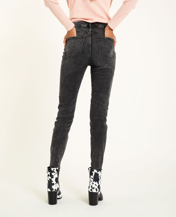 Skinny jeans met hoge taille zwart