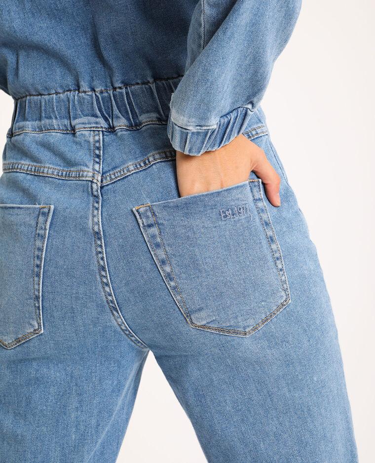 Combi-pantalon en jean bleu ciel