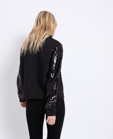 Sweater met pailletten zwart