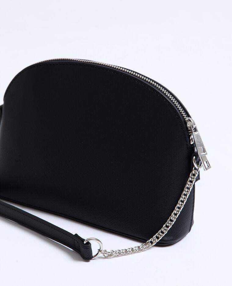 Petit sac en faux cuir noir