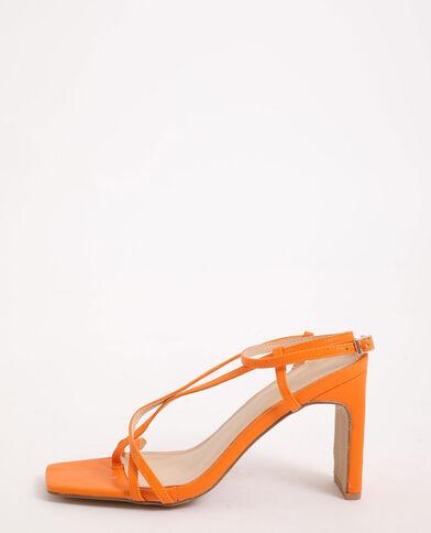 Sandalen met hakken oranje