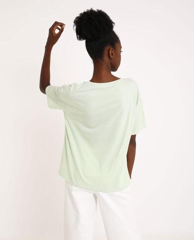 Bedrukt T-shirt groen
