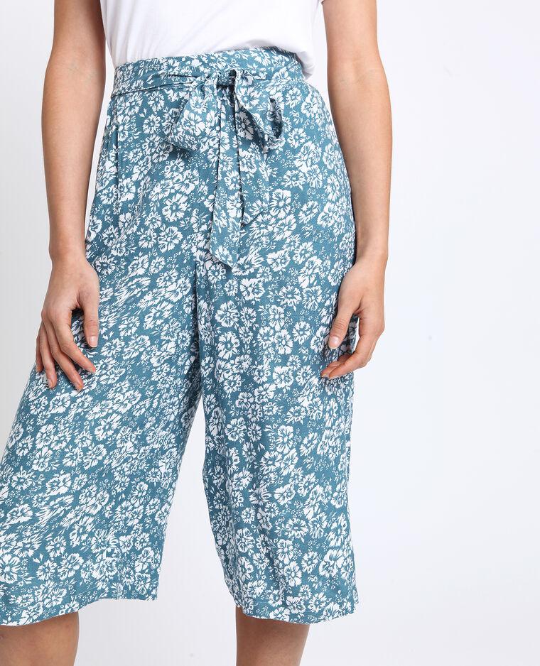 Jupe culotte à fleurs blanc