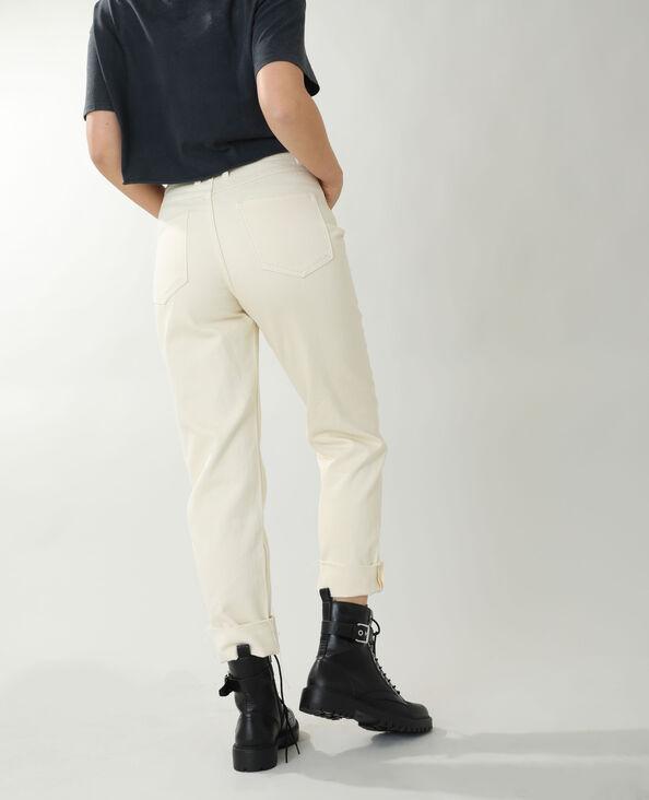 Straight-fit jeans met hoge taille ecru - Pimkie