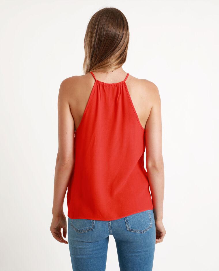 Soepelvallend shirt rood