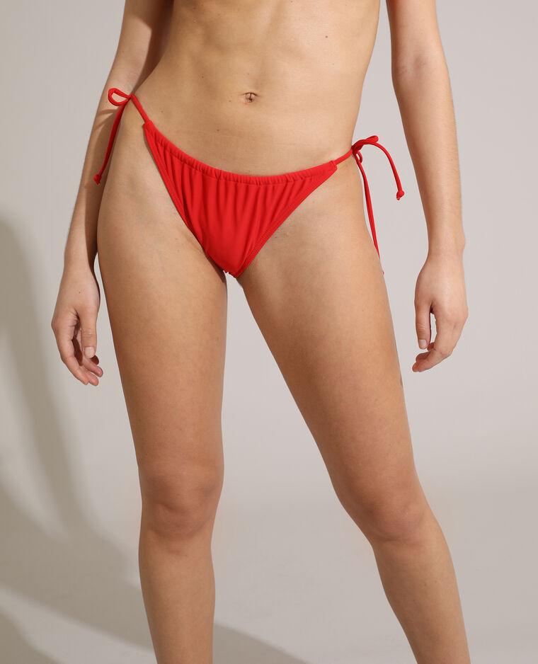 Bas de maillot culotte transformable rouge - Pimkie