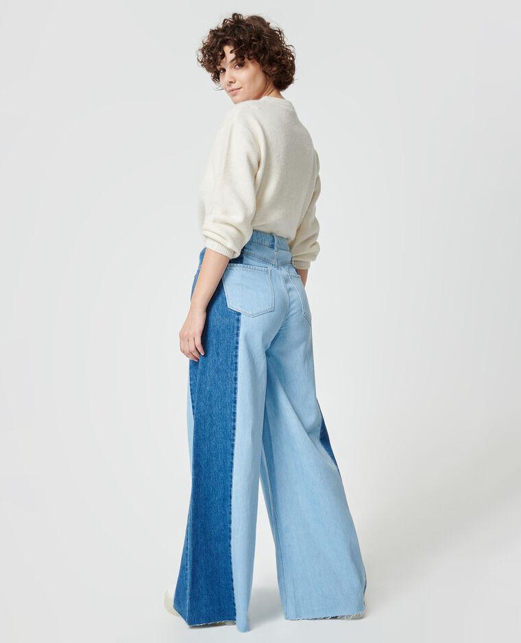 Jean baggy bicolore bleu clair - Pimkie