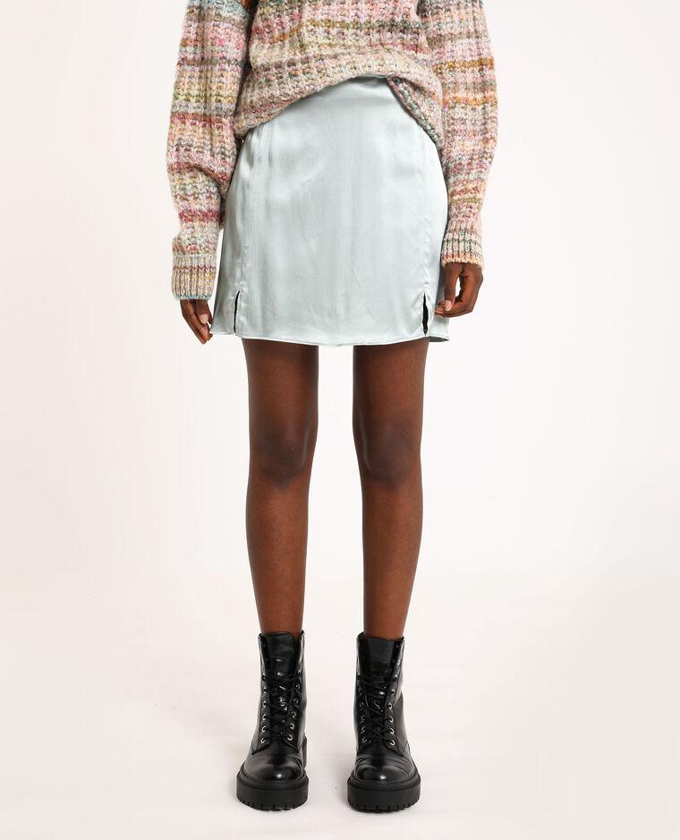 Korte satijnachtige rok grijs