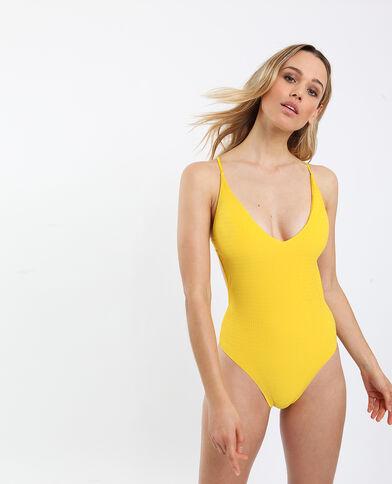 Maillot de bain une pièce à dos nu jaune