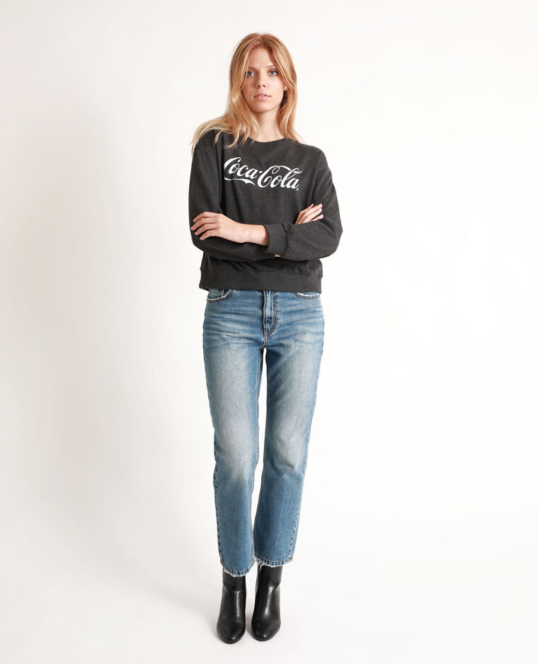 Sweat Coca-Cola gris anthracite