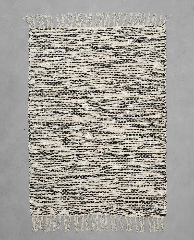tapis coton tiss bicolore - Tapis Coton