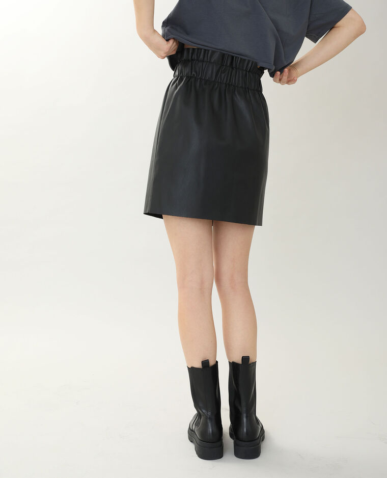 Jupe simili cuir noir - Pimkie