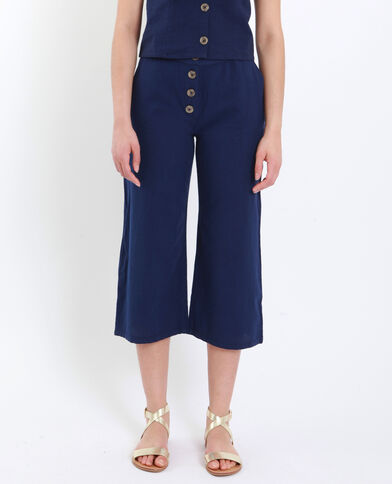 Cropped pants donkerblauw