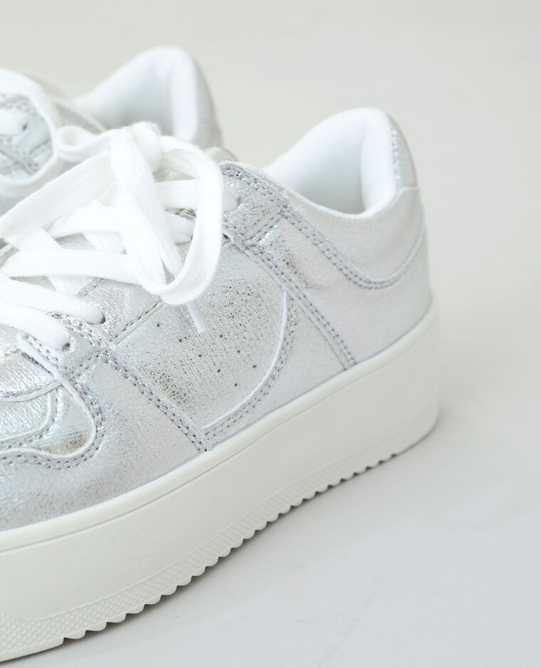 Baskets plateforme gris
