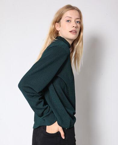 Satijnen sweater groen