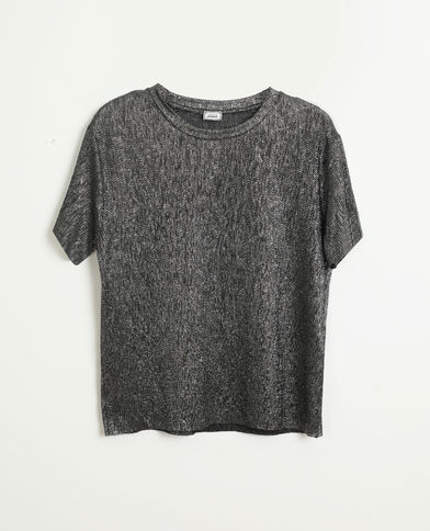 Top pailleté gris