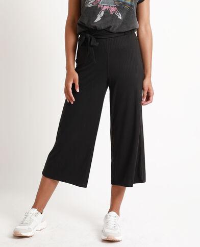 Pantalon cropped noir